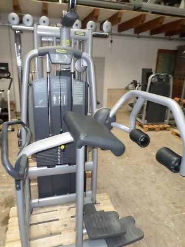 Technogym, Glute, Farbe silber, Polster antrazith,